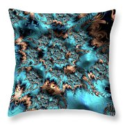 Icy Peaks Throw Pillow