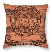 Idaho State Flag Brand Throw Pillow
