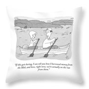 If This Gets Boring Throw Pillow