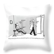 If You Lie To Me About Flossing Throw Pillow