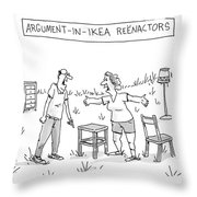 Ikea Reenactors Throw Pillow