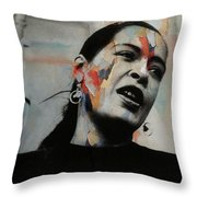 I'll Be Seeing You - Billie Holiday  Throw Pillow
