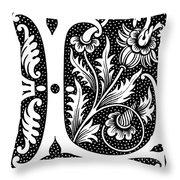 Illuminated Letter L Throw Pillow