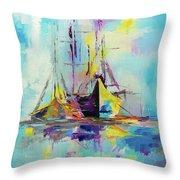 Illusive Boats Throw Pillow
