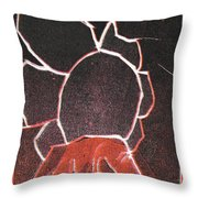 Image 23 I Was Born In A Mine Woodcut Throw Pillow