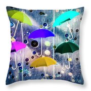 Imagination Raining Wild Throw Pillow