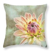 Impression Flower Throw Pillow