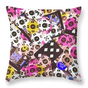 In Casino Colors Throw Pillow
