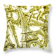 In French Forms Throw Pillow
