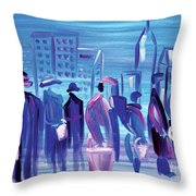 In Line Cle Throw Pillow