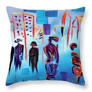 In Line Cle Revisited Throw Pillow
