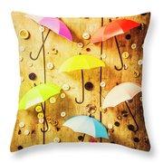 In Rainy Fashion Throw Pillow