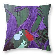 In The Belly Of The Dragon Throw Pillow