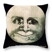 In The Blue Moon Throw Pillow