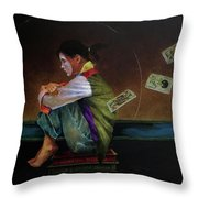 In The Cards Throw Pillow
