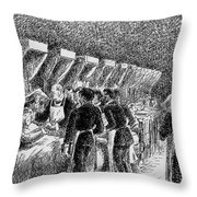 In The Hospital Sketch Throw Pillow