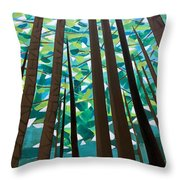 In The Redwoods Throw Pillow