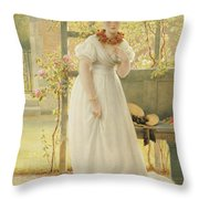 In The Walled Garden, 1869 Throw Pillow