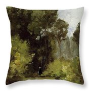 In The Woods, 1864 Throw Pillow