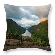 Indian Head Sunrise Throw Pillow by Brad Wenskoski