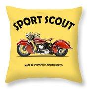 Sport Scout 1940 Throw Pillow by Mark Rogan