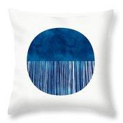 Indigo Moon- Art By Linda Woods Throw Pillow