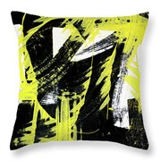 Industrial Abstract Painting II Throw Pillow
