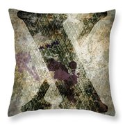 Industrial Letter X Throw Pillow
