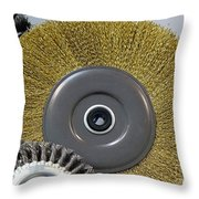 Industrial Wire Brush Attachment Throw Pillow