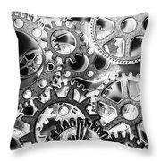 Industry Iron Throw Pillow