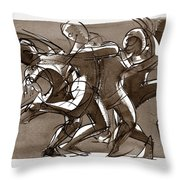 Interaction Throw Pillow by Judith Kunzle