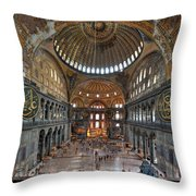 Interior, Hagia Sophia Museum Throw Pillow