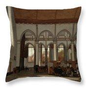 Interior Of The Oude Kerk  Amsterdam  Throw Pillow