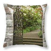 Invitation To The Garden Throw Pillow