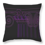 Ionic Capital Diagonal View Cropped 1 Throw Pillow