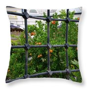 Iron Fencing Throw Pillow