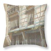 Iron Frame House With Glazed Earthenware  Throw Pillow