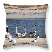 Is Everyone Here Throw Pillow