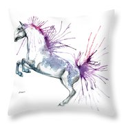 Is  It A Horse Or A Peacock Throw Pillow
