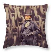 Isambard Kingdom Brunel, Genius Throw Pillow