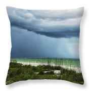 Island Rain Throw Pillow