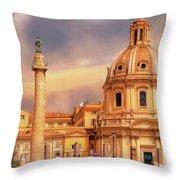 It Ain't Half Hot Mum, Rome Throw Pillow by Leigh Kemp