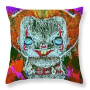 Pennywise Pop Throw Pillow by Al Matra