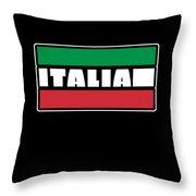 Italian Italy Flag Cool Graphic Italia Soccer Football Throw Pillow