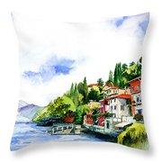 Italian Summer Vacation Throw Pillow