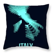 Italy Radiant Map 1 Throw Pillow