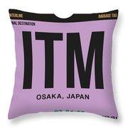 Itm Osaka Luggage Tag I Throw Pillow