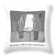 It's All There Throw Pillow