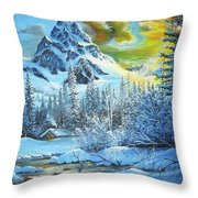 It's Out In The Winter Throw Pillow