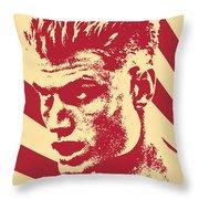 Ivan Drago Retro Propaganda Throw Pillow